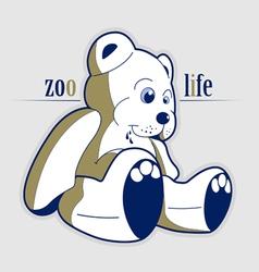 cartoon style teddy bear toy vector image