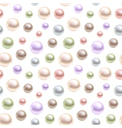Spherical pearls of different colors vector image vector image