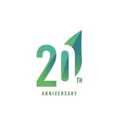 20 th anniversary logo template design vector