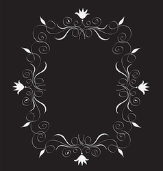 Abstract floral frame Free vector image