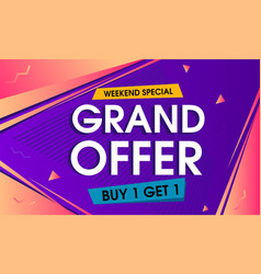 abstract grand offer banner background vector image