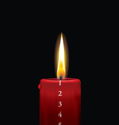 Advent candle red 1 vector