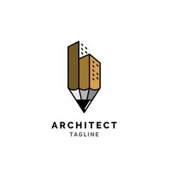 architect logo design vector image
