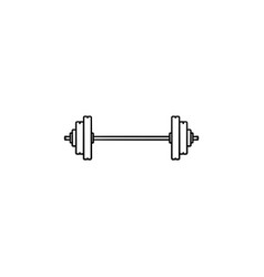 barbell hand drawn outline doodle icon vector image