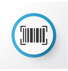 barcode icon symbol premium quality isolated vector image