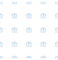 Barn icon pattern seamless white background vector