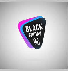 black friday percent abstract color geometric icon vector image