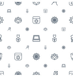 blossom icons pattern seamless white background vector image