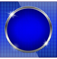 Blue fluorescent background vector image