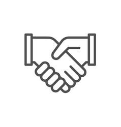 business handshake contract agreement vector image