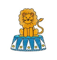 circus lion cartoon vector image
