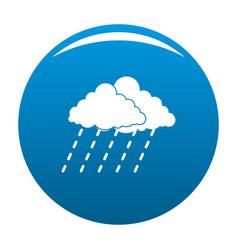 cloud rain storm icon blue vector image