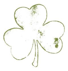 clover grunge stroke vector image
