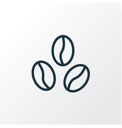 coffee bean icon line symbol premium quality vector image
