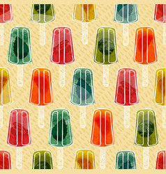 colorful transparent fruit popsicles seamless vector image