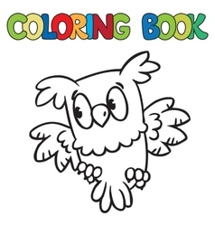 Coloring book of little owl vector image