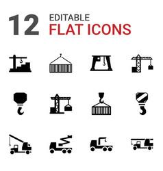 Crane icons vector