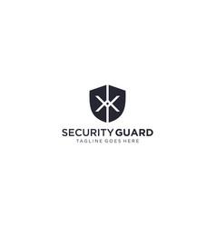 Creative shield for security logo design ed vector