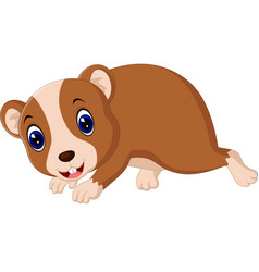 Cute hamster waving hand vector