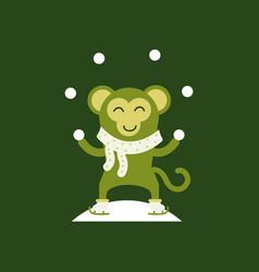 Cute monkey logo logo design vector