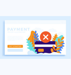 declined payment credit card stock isolated for vector image