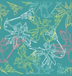 design with stylized birdsa birdhouse vector image