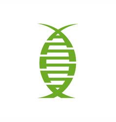 Dna organic modern logo vector
