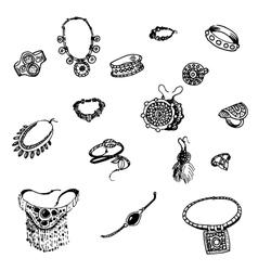 doodle bijouterie vector image