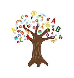 Education concept tree vector