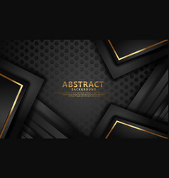 Elegant and futuristic abstract line gold on dots vector
