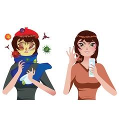 Flu Treatment vector image
