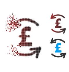 Fractured pixel halftone refresh pound balance vector