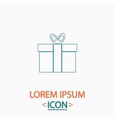 Gift box computer symbol vector