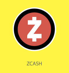 Golden zcash cryptocurrency coin isolated vector