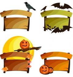 Halloween signs vector