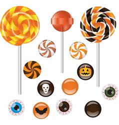 Halloween sweets vector