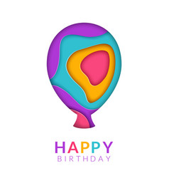 happy birthday greeting card template with vector image