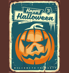 Happy halloween retro sign vector