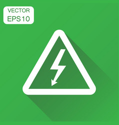 high voltage danger sign icon business concept vector image