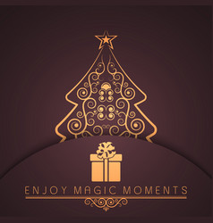 holiday merry year vector image