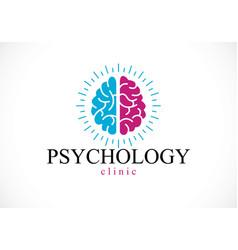 Human anatomical brain mental health psychology vector