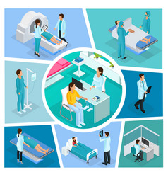 isometric medicine composition vector image