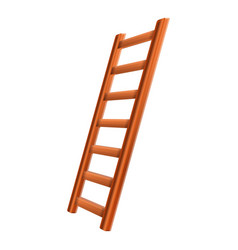 Ladder inventory icon cartoon style vector