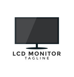 lcd monitor graphic design element template vector image