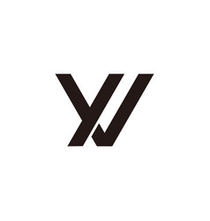 Letter yv simple linked geometric design symbol vector