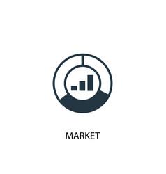 market icon simple element market vector image