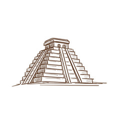 mexican heritage of ancients culture living on vector image