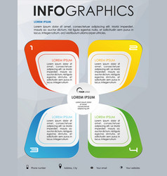 modern colorful infographics with color element vector image