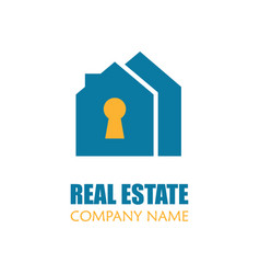 Modern real estate logo template creative home vector