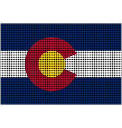 Mosaic flag of colorado vector